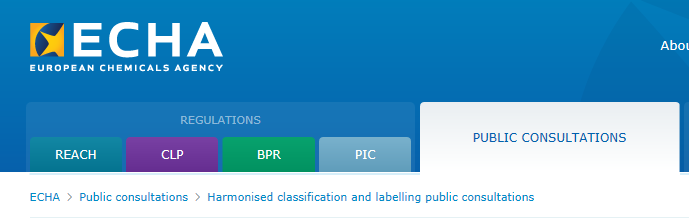 EU,CLP,Classification,Labeling,Public,Consultation