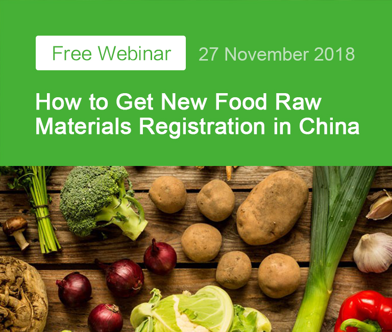 China,Food,Food Registration,Raw Material,Free,Webinar,Registration