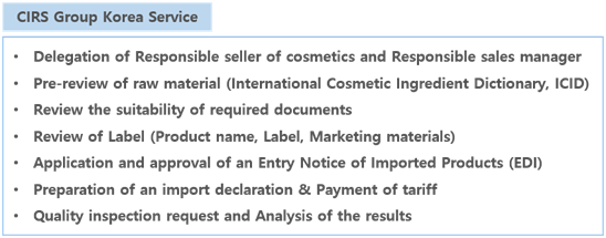 CIRS Group Korea has been issued a Cosmetic Responsible Sale
