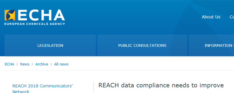 Chemical,REACH,Data Compliance,Compliance Check,ECHA