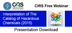 Catalog of Hazardous Chemicals_in China (2015)