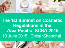 The 1st Summit on Cosmetic Regulations in the Asia-Pacific (SCRA 2015) will be held in Shanghai